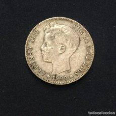 Monedas de España: ALFONSO XIII - 1 PESETA - 1900 *1()-0() SMV - PLATA - MBC+. Lote 194774396