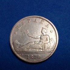 Monedas de España: 1 PESETA GOBIERNO PROVISIONAL 1870. Lote 194774885