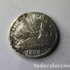 Monedas de España: 485,, RARA Y ESCASA MONEDA DE ESPAÑA 1 PESETA PLATA AÑO 1869 ESPAÑA CONSERVACION BC.. Lote 194782281