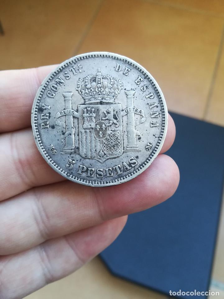 Monedas de España: MONEDA DE 5 PESETAS DE ALFONSO XII DEL AÑO 1885*-18-87 MS M.DE PLATA.ORIGINAL% - Foto 2 - 194876621