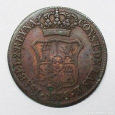 Monedas de España: ISABEL II, 1838. MONEDA DE 6 CUARTOS, CECA DE CATALUÑA-BARCELONA. LOTE 2327. Lote 194877640