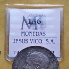 Monedas de España: OCASIÓN LOTE MONEDAS 5 PESETAS ALFONSO XIII PROCEDENTES DE SUBASTA. DUROS DE PLATA 1898 Y 1899.. Lote 194887521