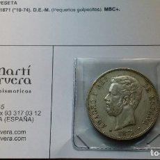 Monedas de España: OCASIÓN LOTE 4 MONEDAS 5 PESETAS PROCEDENTES DE SUBASTA. DUROS DE PLATA 1871, 1882, 1898 Y 1899.. Lote 194888537