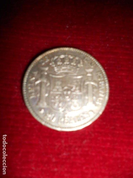 Monedas de España: ANTIGUA MONEDA DE PLATA DEL 2O REALES ISABEL 2ª POR LA G. DE DIOS 1850 - Foto 3 - 194891028