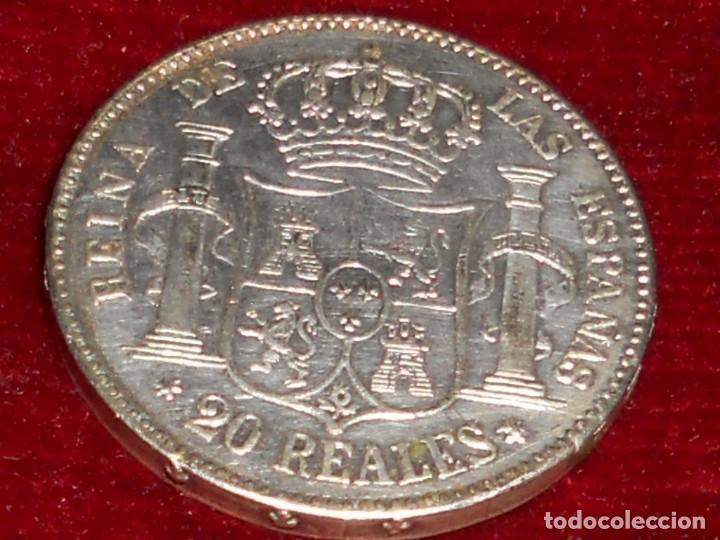 Monedas de España: ANTIGUA MONEDA DE PLATA DEL 2O REALES ISABEL 2ª POR LA G. DE DIOS 1850 - Foto 5 - 194891028