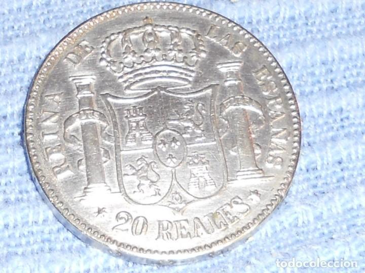 Monedas de España: ANTIGUA MONEDA DE PLATA DEL 2O REALES ISABEL 2ª POR LA G. DE DIOS 1850 - Foto 7 - 194891028