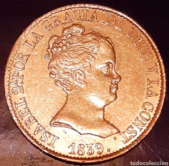 80 REALES DE ORO ISABEL II.1839 BARCELONA ( PS ) !! PRECIOSA Y ESCASA ASÍ !! (Numismática - España Modernas y Contemporáneas - De Isabel II (1.834) a Alfonso XIII (1.931))