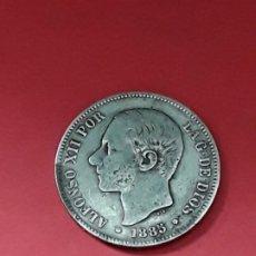Monedas de España: ALFONSO XII. 5 PESETAS. 1885 (18-87). Lote 194932820