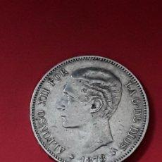 Monedas de España: ALFONSO XII. 5 PESETAS. 1878 -DEM. Lote 194932858