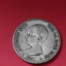 Monedas de España: ALFONSO XIII. 5 PESETAS. 1891. Lote 194933123