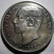 Monedas de España: ESPAÑA 5 PESETAS ALFONSO XII 1882* 18-82 MS M PLATA EBC. Lote 194939997