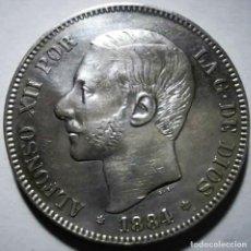 Monedas de España: ESPAÑA 5 PESETAS ALFONSO XII 1884* 18-84 MS M PLATA EBC. Lote 194940188