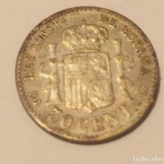 Monedas de España: 50 CÉNTIMOS ALFONSO XIII.PLATA. 1892. Lote 194967896