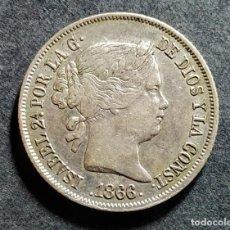 Monedas de España: 40 CÉNTIMOS DE ESCUDO - ISABEL II 1866 EBC-. Lote 194969215