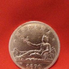 Monedas de España: EXCELENTE 5 PESETAS 1870 (*18*70) VER FOTOS. Lote 194975431