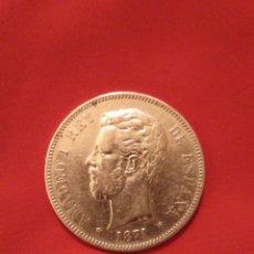 Monedas de España: MUY BUENA 5 PESETAS AMADEO I 1871 ESTRELLA *74. VER FOTOS. Lote 194976412