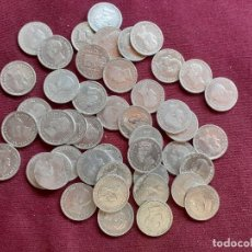 Monedas de España: LOTE DE 42 MONEDAS DE 50 CÉNTIMOS DE PLATA. Lote 194999965
