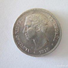 Monedas de España: ALFONSO XII * 5 PESETAS 1876*76 DE M * VARIANTE OREJA RAYADA * PLATA. Lote 195008977
