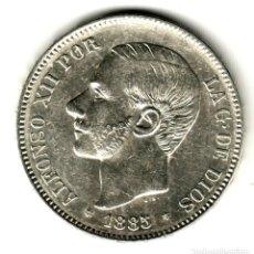 Monedas de España: ESPAÑA 5 PESETAS PLATA 1885 *18* *87* MS. M. ALFONSO XII PRECIOSO DURO PLATA. Lote 195027995