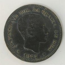 Monedas de España: 5 CÉNTIMOS ALFONSO XII 1877. Lote 195036092