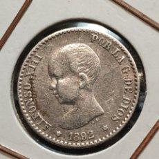 Monedas de España: 50 CENTIMOS DE PESETA 1892*9-2 ALFONSO XIII. Lote 195053372