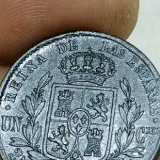Monedas de España: ISABEL II 1864 25 CENTIMOS SEGOVIA. Lote 195060835