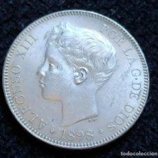 Monedas de España: 5 PESETAS 1898 ALFONSO XIII.(SC-) BRILLO ORIGINAL. Lote 195079831