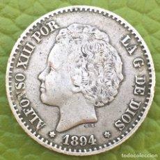 Monedas de España: ALFONSO XIII.50 CÉNTIMOS.1894 (9*4).PGV.PLATA.. Lote 195103511