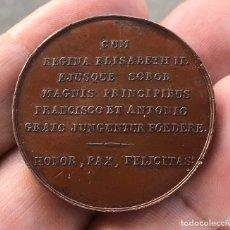 Monedas de España: MEDALLA DE LA BODA REAL DE ISABEL II EN BARCELONA 1846. Lote 195154916