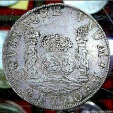 Monedas de España: ESPAÑA / CARLOS III 1770 / 8 REAL COL / MÉJICO-MF-. Lote 195159836