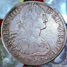 Monedas de España: ESPAÑA / CARLOS IIII 1792 / 8 REAL / MÉJICO-FM-. Lote 195161081