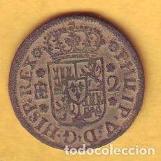 Monedas de España: MONEDA DE FELIPE V DE 2 MARAVEDIS CECA SEGOVIA AÑO 1746. Lote 195162611