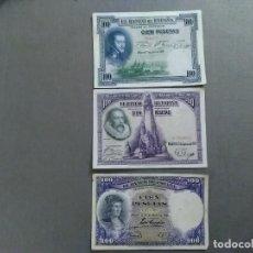 Monedas de España: TRES BILLETES DE 100 PESETAS DEL 25, 28 Y 31. Lote 195177606