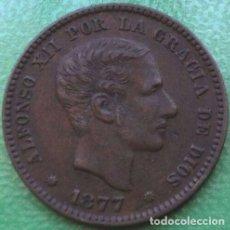 Monedas de España: 5 CÉNTIMOS 1877. Lote 195217952