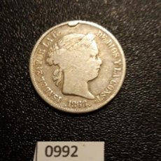 Monete da Spagna: ESPAÑA 20 CENTAVOS DE PESO 1868, MANILA. Lote 195232741