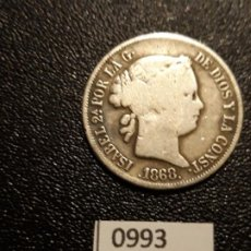Monedas de España: ESPAÑA 20 CENTAVOS DE PESO 1868, MANILA . Lote 195232806