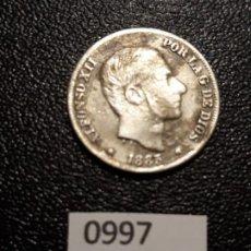 Monedas de España: ESPAÑA 10 CENTAVOS DE PESO 1885, MANILA . Lote 195236438