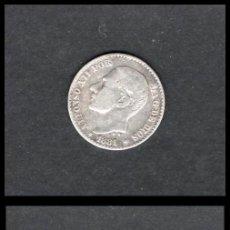 Monedas de España: ESPAÑA, ALFONSO XII 50 CENTIMOS 1881 X-1 MS-M (PLATA) MBC. Lote 195303875