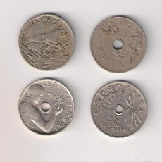 Monedas de España: LOTE DE LAS 4 MONEDAS DE 25 CÉNTIMOS DE ESPAÑA 1925, 1927, 1934 Y 1937. . Lote 195307622