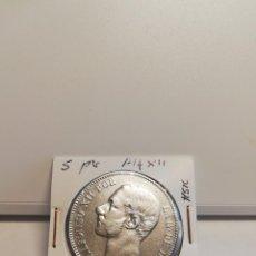 Monedas de España: MONEDA DE PLATA 5 PESETAS ALFONSO XII 1885*--*85. Lote 195374898