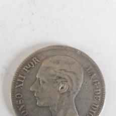 Monedas de España: 5 PESETAS DE PLATA ALFONSO XII 1878. Lote 195405762