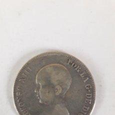 Monedas de España: 5 PESETAS 1890 ALFONSO XIII PGM MONEDA DE PLATA. Lote 195407696