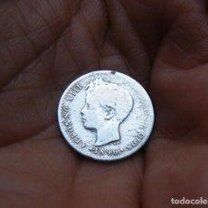 Monedas de España: ALFONSO XIII 50 CTMOS. 1896 PLATA --RARA--. Lote 195410083