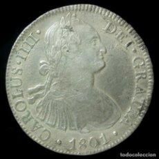 Monedas de España: CARLOS IV, 8 REALES DE PLATA DE MEXICO, 1801 (ENSAYADOR FT) - 37 MM / 26.69GR.. Lote 195416611