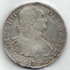 Monedas de España: 8 REALES 1792 MÉJICO FM - CARLOS IIII - PLATA.. Lote 195422306