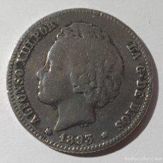 Monedas de España: MONEDA UNA PESETA AÑO 1893. Lote 195426583