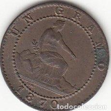 Monedas de España: I REPUBLICA: 1 CENTIMO 1870 / BUENA CONSERVACION. Lote 195430806
