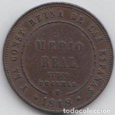 Monedas de España: MEDIO REAL - ISABEL II 1848. Lote 195453471