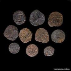 Monedas de España: MARAVEDÍS - SIGLOS XVI - XIX, CONJUNTO DE 10 DE LA DINASTÍA. Lote 195456026