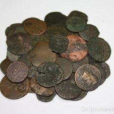 Monedas de España: 2,, LOTE DE 55 MONEDAS MUY ANTIGUAS, CHAPAS PARA COLECCIONISTAS ESTUDIOSOS, . Lote 195459792